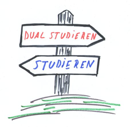 Duale Studiengänge sind attraktiv.